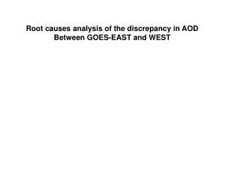 Root causes analysis of the discrepancy in AOD Between GOES-EAST and WEST