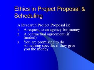 Ethics in Project Proposal & Scheduling