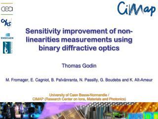 Sensitivity improvement of non- linearities  measurements using binary diffractive optics