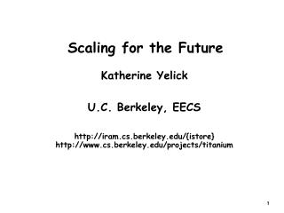 Scaling for the Future