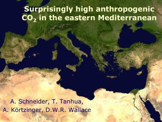 Surprisingly high anthropogenic CO 2  in the eastern Mediterranean