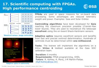 17. Scientific computing with FPGAs. High performance centroiding