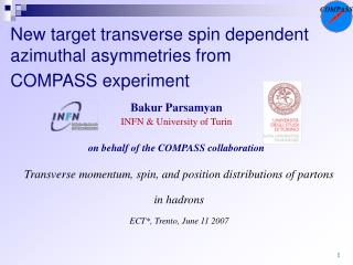 New target transverse spin dependent  azimuthal  asymmetries from  COMPASS experiment