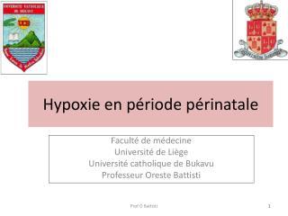 Hypoxie en période périnatale