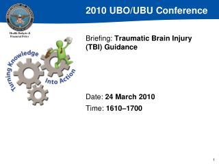 Briefing: Traumatic Brain Injury TBI Guidance