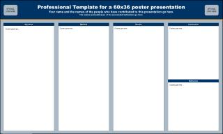Professional Template for a 60x36 poster presentation