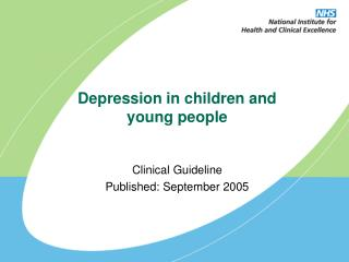 Depression in children and young people