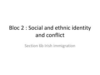 Bloc 2 : Social and ethnic identity and conflict