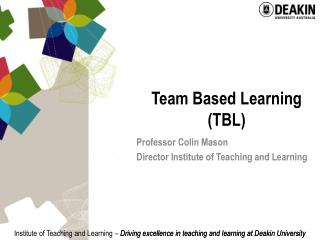 Team Based Learning TBL