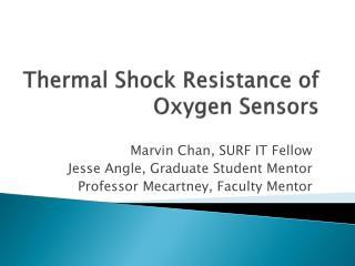 Thermal Shock Resistance of Oxygen Sensors