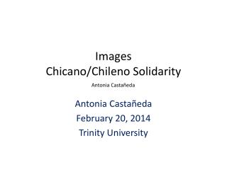 Images  Chicano/ Chileno  Solidarity