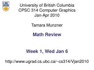 Math Review Week 1, Wed Jan 6