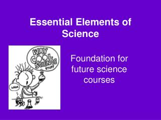 Essential Elements of Science