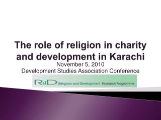The role of religion in charity and development in Karachi
