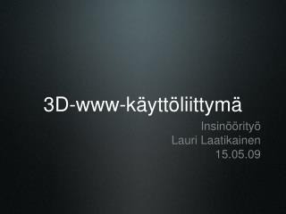 3D-www-käyttöliittymä