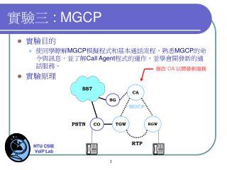 實驗三  : MGCP