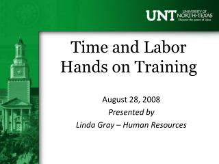 Time and Labor Hands on Training