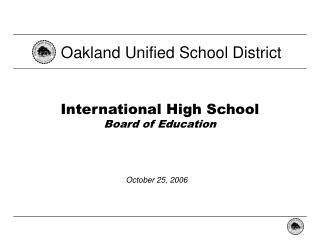 International High School Board of Education