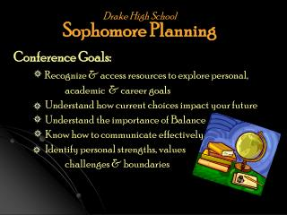 Drake High School Sophomore Planning