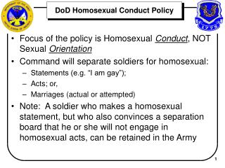 DoD Homosexual Conduct Policy