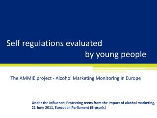 Self regulations evaluated by young people