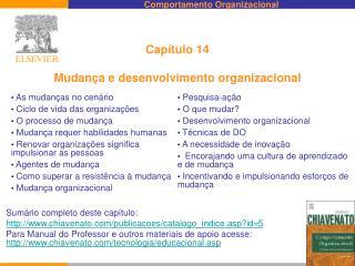 Capítulo 14 Mudança e desenvolvimento organizacional