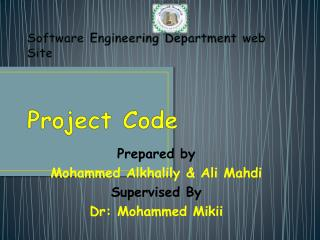Software Engineering Department web Site Project Code