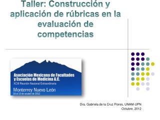 Taller: Construcción  y aplicación de rúbricas en la evaluación de competencias