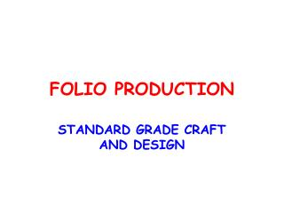 FOLIO PRODUCTION