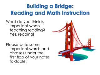Building a Bridge: Reading and Math Instruction