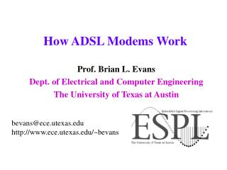 How ADSL Modems Work