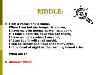 RIDDLE: