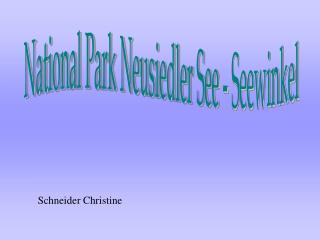National Park Neusiedler See - Seewinkel