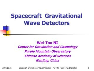 Spacecraft  Gravitational Wave Detectors