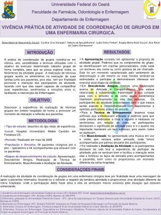 Universidade Federal do Ceará Faculdade de Farmácia, Odontologia e Enfermagem