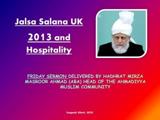 Jalsa  Salana  UK  2013  and Hospitality
