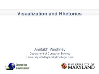 Visualization and Rhetorics
