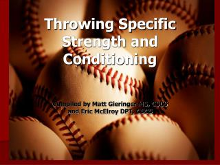 Throwing Specific Strength and Conditioning