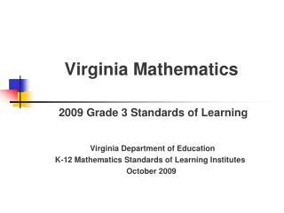 Virginia Mathematics