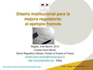 Diseño institucional para la mejora regulatoria:  el ejemplo francés