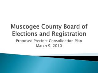 Muscogee County Board of Elections and Registration
