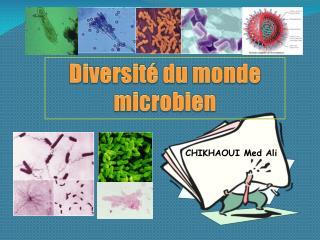 Diversité  du  monde microbien