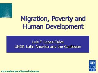 Migration, Poverty and Human Development