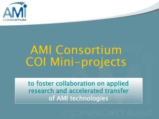 AMI Consortium  COI Mini-projects