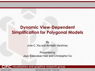 Dynamic View-Dependent Simplification for Polygonal Models