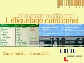L'étiquetage nutritionnel
