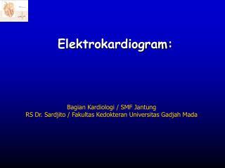 Elektro k ardiogram :