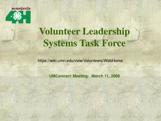 UMConnect Meeting:  March 11, 2009