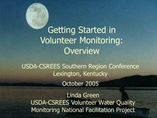Getting Started in Volunteer Monitoring: Overview