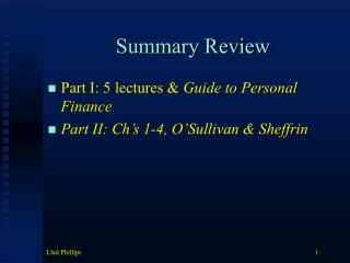 Summary Review